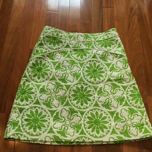 Lilly Pulitzer green print skirt!! Hard to find